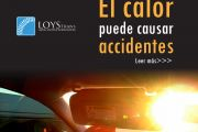 Conductor, el calor puede causar accidentes