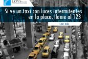 Si ve un taxi con luces intermitentes en la placa, llame al 123